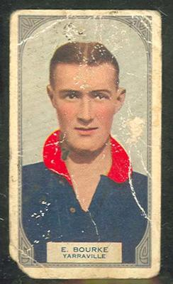 1933 Hoadleys Victorian Footballers Edward Bourke trade card; Documents and books; M12394.5