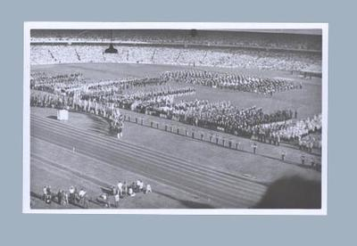 Photograph of 1956 Olympic Games Opening Ceremony, Melbourne Cricket Ground