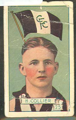 1934 Allen's League Footballers Harry Collier trade card