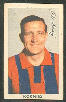 1950 Kornies Victorian Footballers Jim Cleary trade card