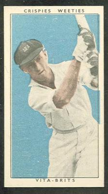 1948 Cereal Foods Leading Cricketers R Craig trade card; Documents and books; M12399.3