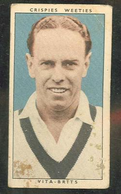 1948 Cereal Foods Leading Cricketers Ian Johnson trade card