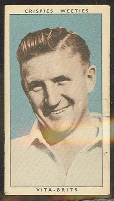 1948 Cereal Foods Leading Cricketers Colin McCool trade card