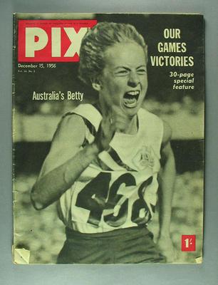 "Magazine, ""PIX"" 15 December 1956"