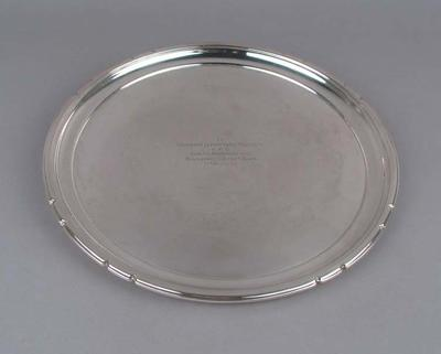 Salver presented to Keith Truscott, 17 May 1942
