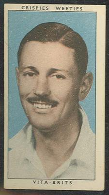 1948 Cereal Foods Leading Cricketers Richard Niehuus trade card; Documents and books; M12399.16