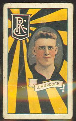 1933 Allen's League Footballers Joe Murdoch trade card