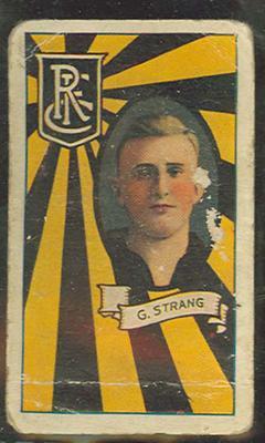1933 Allen's League Footballers Gordon Strang trade card
