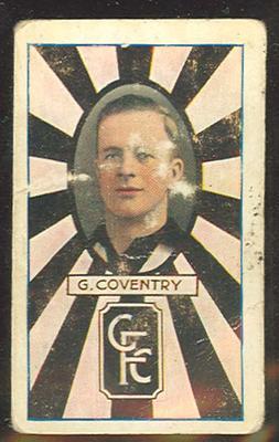 1933 Allen's League Footballers Gordon Coventry trade card