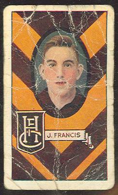 1933 Allen's League Footballers Jim Francis trade card
