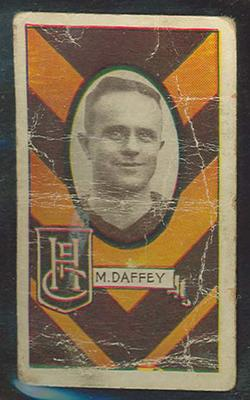 1933 Allen's League Footballers Mark Daffey trade card