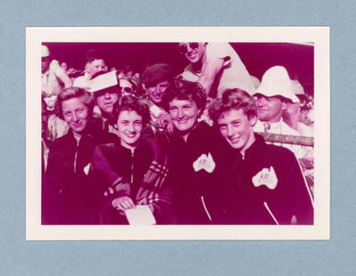 Photograph of Australian women's 4x100m relay team, 1956 Olympic Games