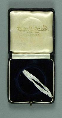 Medal presentation box, c1939; Trophies and awards; 1994.3095.21