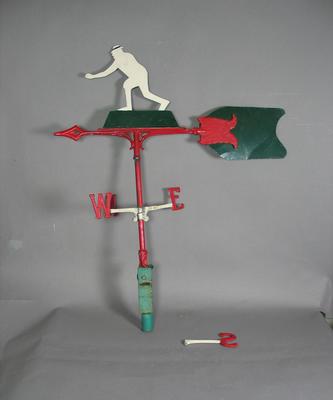 Weather vane, image of lawn bowler
