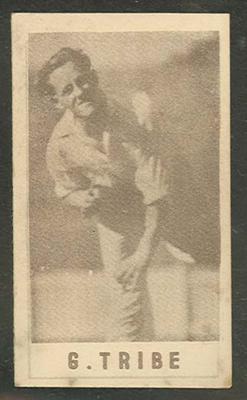 1946-47 Australian Cricketers G Tribe trade card