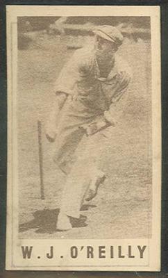 1946-47 Australian Cricketers W J O'Reilly trade card