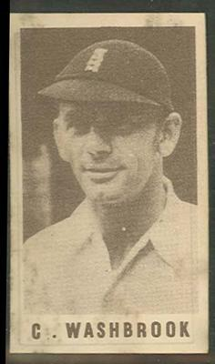 1946-47 Australian Cricketers C Washbrook trade card