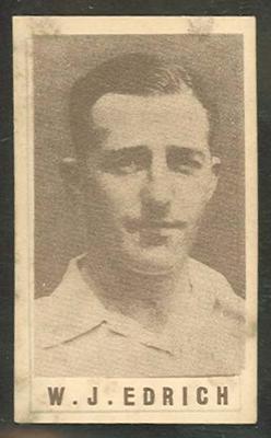 1946-47 Australian Cricketers W J Edrich trade card