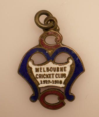 Melbourne Cricket Club membership medallion, season 1917/18