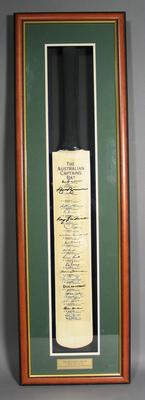 "Presentation cricket bat, ""The Australian Captains Bat"""