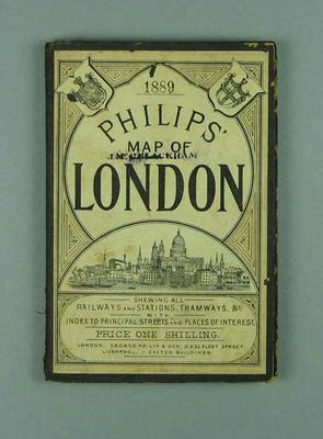 Philips Map of London 1889, once owned by John Blackham
