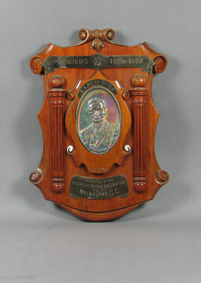 Shield presented to Melbourne Cricket Club, VCA Premiers 1929-30