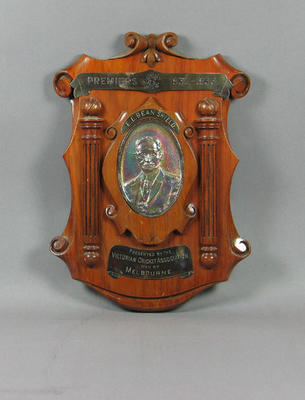 Shield presented to Melbourne Cricket Club, VCA Premiers 1932-33