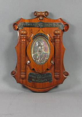 Shield presented to Melbourne Cricket Club, VCA Premiers 1934-35