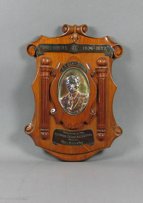 Shield presented to Melbourne Cricket Club, VCA Premiers 1936-37