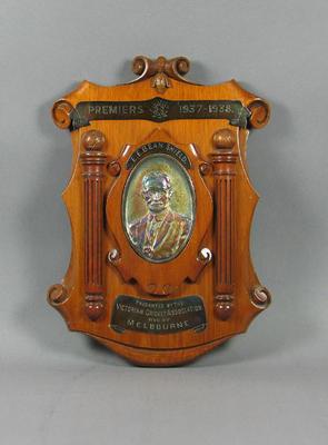 Shield presented to Melbourne Cricket Club, VCA Premiers 1937-38
