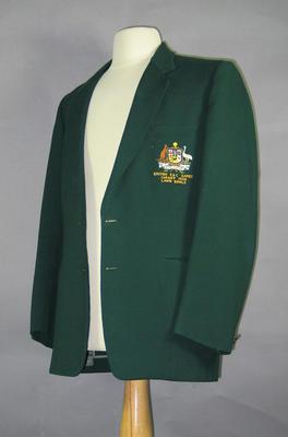 Blazer - 1958 British Empire & Commonwealth Games, Cardiff worn by Glen Bosisto
