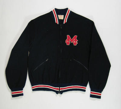 Jacket, Melbourne Cricket Club - Baseball Section c1958; Clothing or accessories; 1988.2045.3