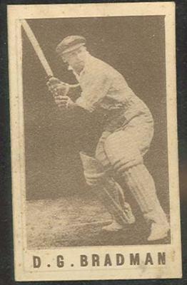 1946-47 Australian Cricketers D G Bradman trade card