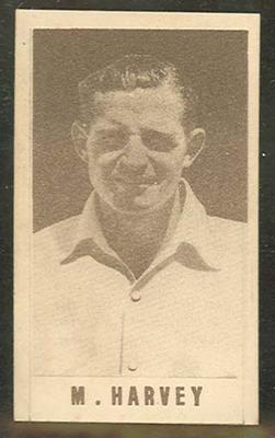 1946-47 Australian Cricketers M Harvey trade card