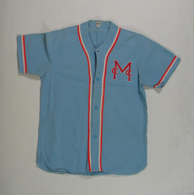 Shirt, Melbourne Cricket Club - Baseball Section c1970