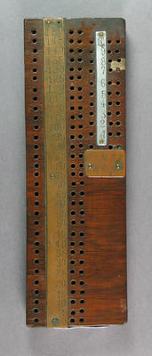 Cribbage board, used by Australian cricket team on tour to England and North America 1878