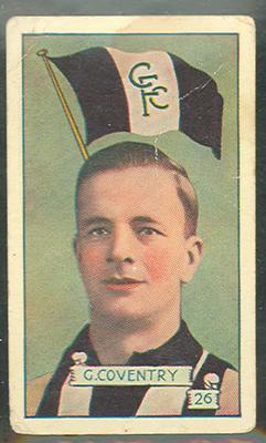 1934 Allen's League Footballers Gordon Coventry trade card