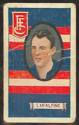 1933 Allen's League Footballers Ivan McAlpine trade card
