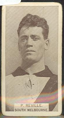 1933 W D & H O Wills Footballers P Reville trade card