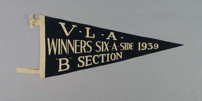 Pennant - Victorian Lacrosse Association Winners Six-A-Side 'B'  Section 1939