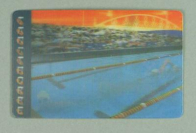 Telstra Phone card with hologram of Ian Thorpe competing 2000 Olympic Games