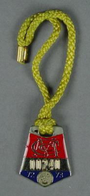 Melbourne Cricket Club junior membership medallion, 1972-73