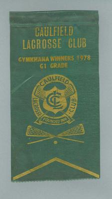 Pennant - Caulfield Lacrosse Club - Gymkhana Winners 1978