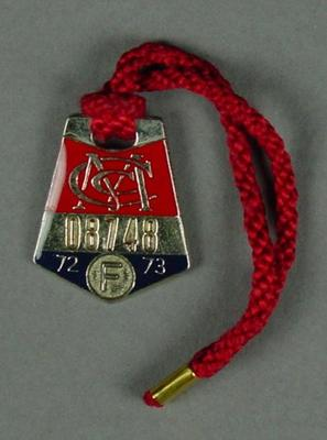 Melbourne Cricket Club membership medallion, 1972-73; Trophies and awards; M12523.4