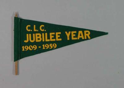 "Pennant, ""CLC Jubilee Year 1909-59"""