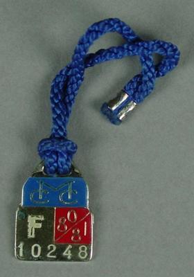 Melbourne Cricket Club membership medallion, 1980-81