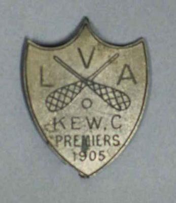 Victorian Lacrosse Association Premiers badge 1905