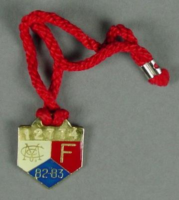 Melbourne Cricket Club membership medallion, 1982-83