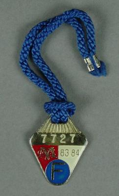 Melbourne Cricket Club membership medallion, 1983-84