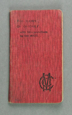 """Booklet, """"The Laws of Cricket with Interpretations by the MCC"""" 1905; Documents and books; M12527"""